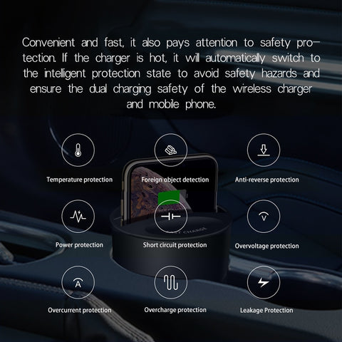 Image of Car Wireless Charger Cup
