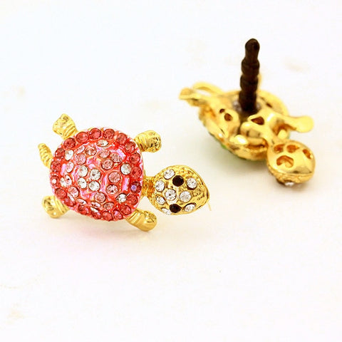 Cute Glitter Turtle Shape Mobile Phone Dust Plugs