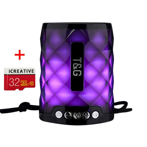 TG Colorful Led Bluetooth Speaker Portable Outdoor