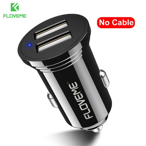 FLOVEME 2 Types Car Charger For Phone Mini USB
