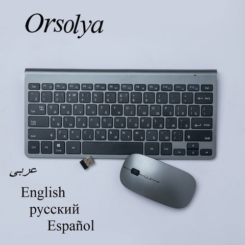 Image of Mini Wireless Keyboard + Mouse Set