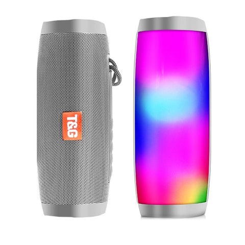 Portable Bluetooth Speaker with LED Light