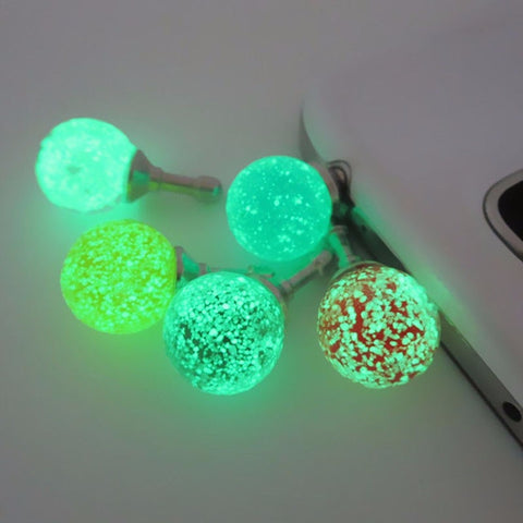 Luminous Night Light Cell Phone Dust Plugs