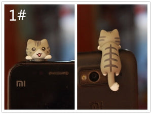Cute Cats Anti Dust Plugs for Cell Phone