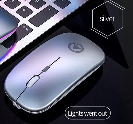 Rechargeable Mouse Wireless Silent RGB LED Backlight