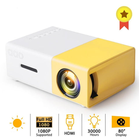 Image of YG300 Built-in Battery Version LCD Mini Portable Pocket Projector