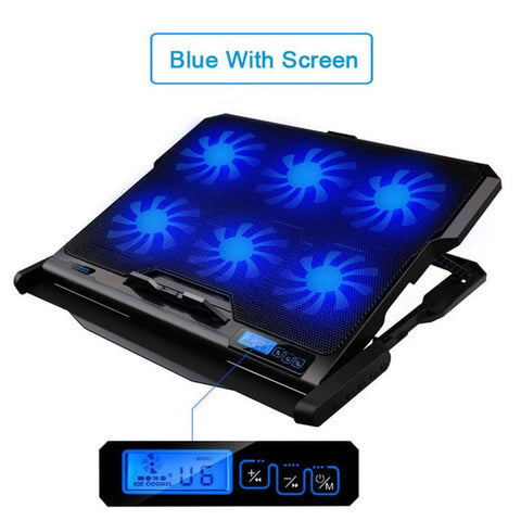 Laptop Cooling Stand with 6 LED Fans