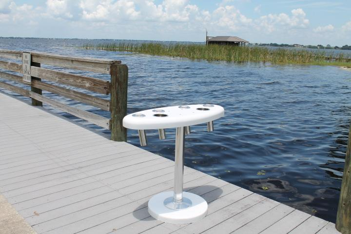 Rough Water Cockpit Table - 47 x 29'' x 2'' Oval Table''