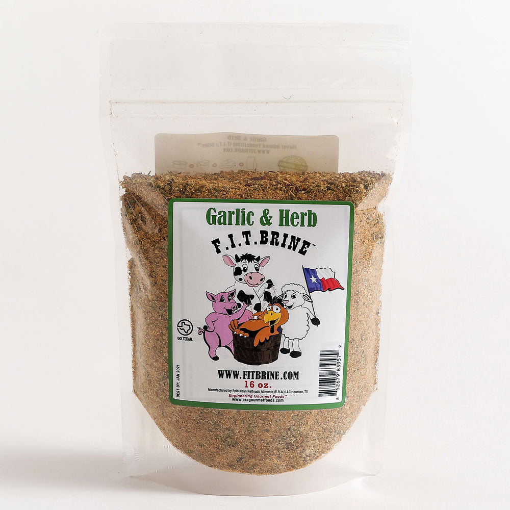 Dry Mix F.I.T. BRINE All Natural Garlic and Herb 454g