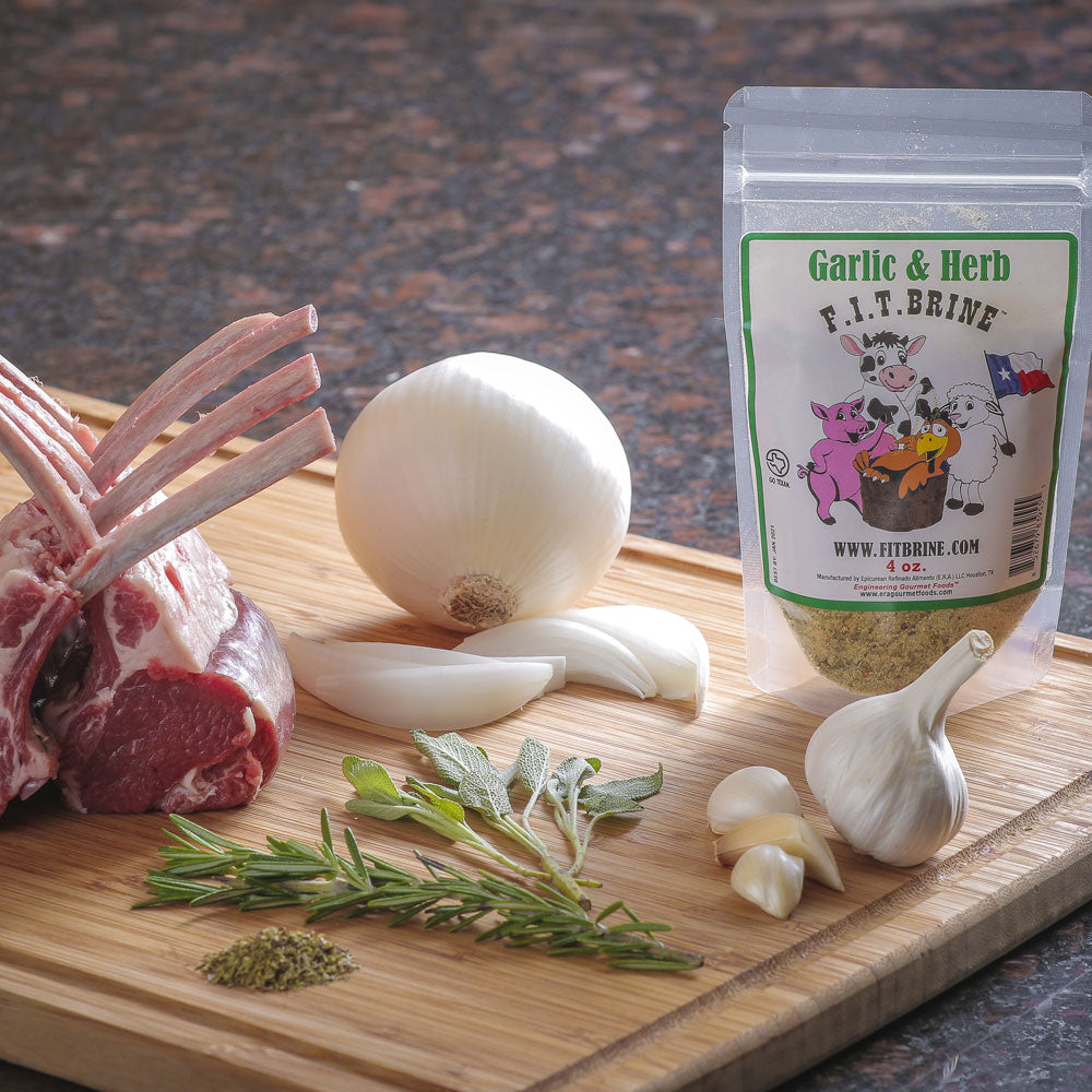 dry mix f i t brine all natural garlic and herb 454g american bbq