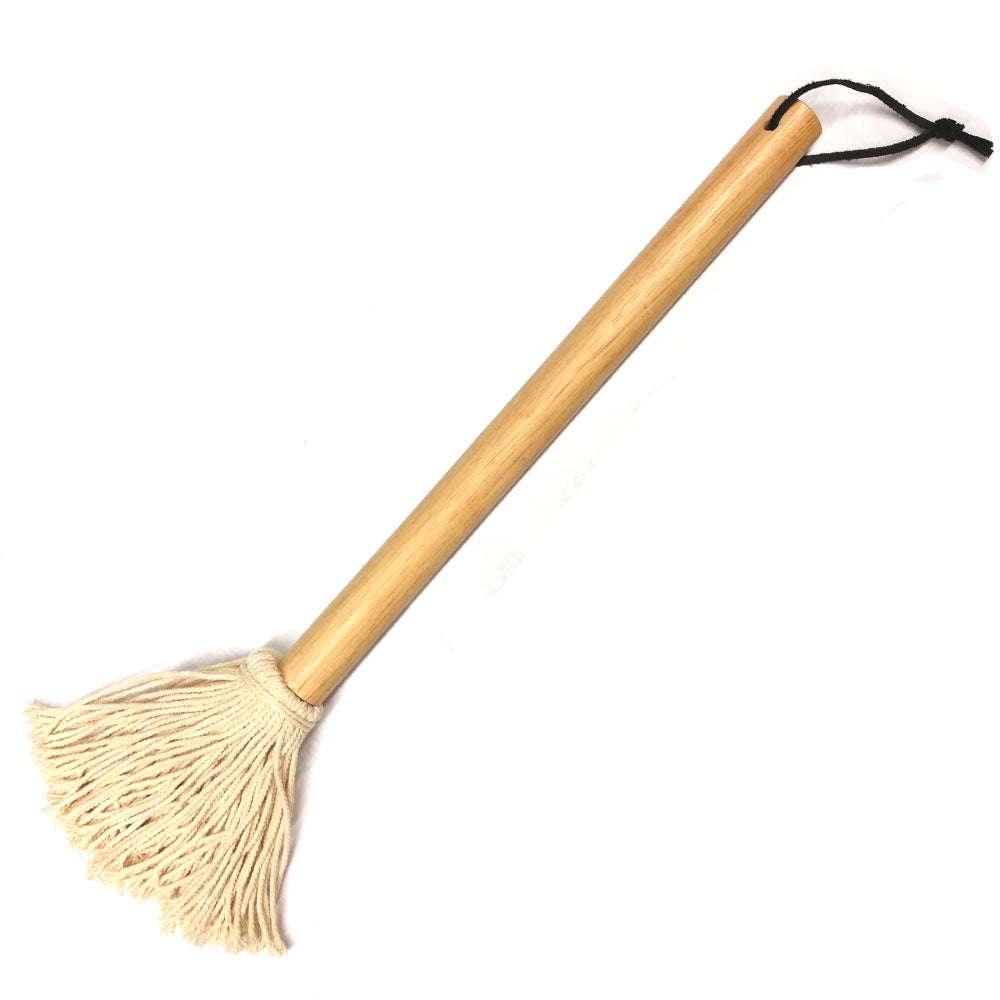 Basting Cotton Mop Natural Wood Handle JUMBO Natural Finish 39cm