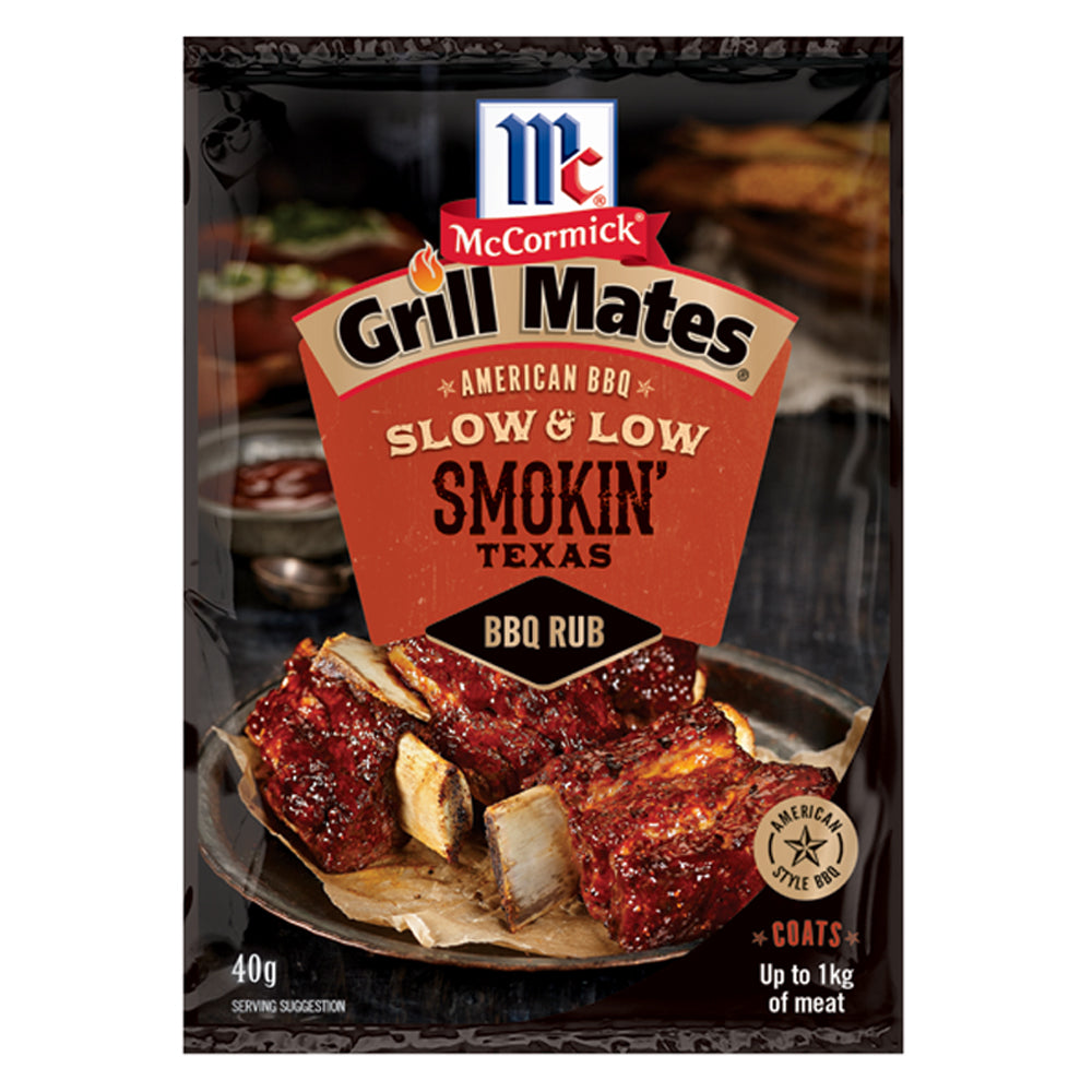 Dry Mix Grill Mates BBQ Rub Smokin Texas 40g