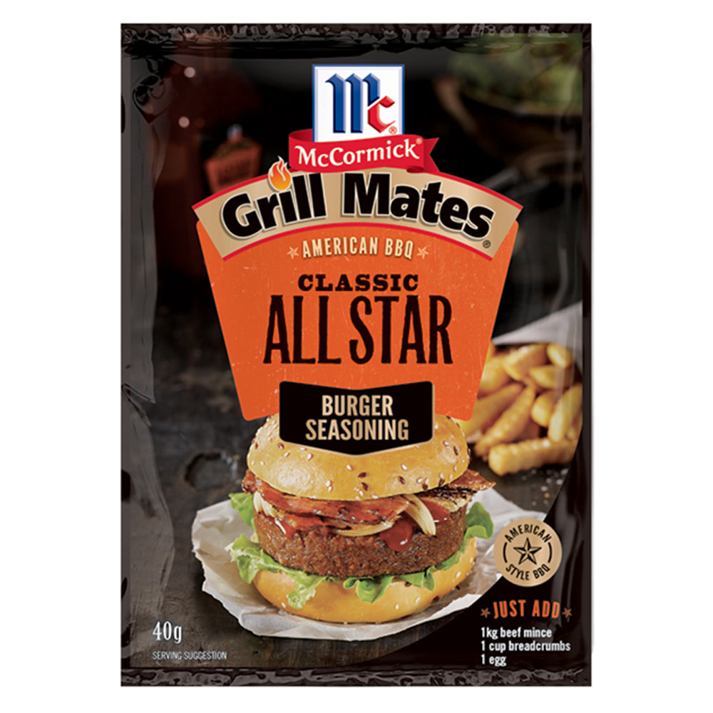 Dry Mix Grill Mates Burger Seasoning Classic All Star 40g