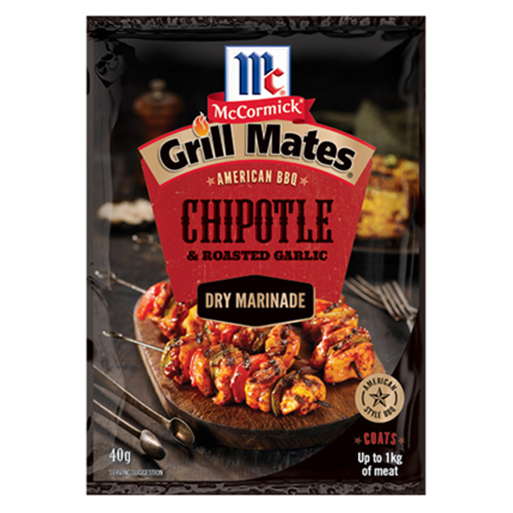 Dry Mix Grill Mates Marinade Chipotle and Roasted Garlic 40g - American BBQ Australia