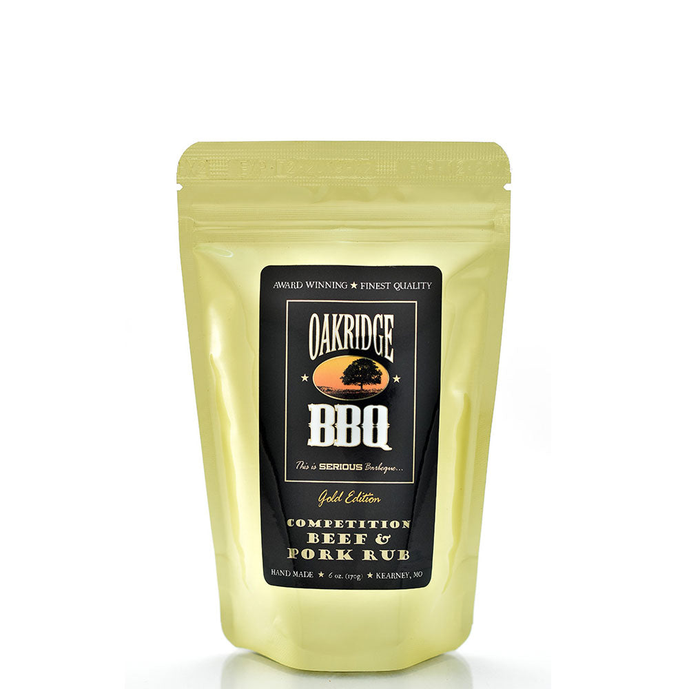 BBQ Dry Rub OAKRIDGE BBQ Gold Edition Competition Beef and Pork 170g - American BBQ Australia