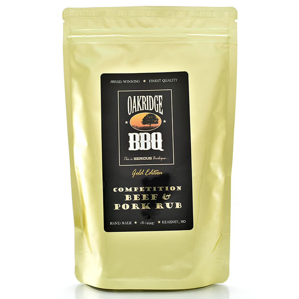 BBQ Dry Rub OAKRIDGE BBQ Gold Edition Competition Beef and Pork 454g - American BBQ Australia