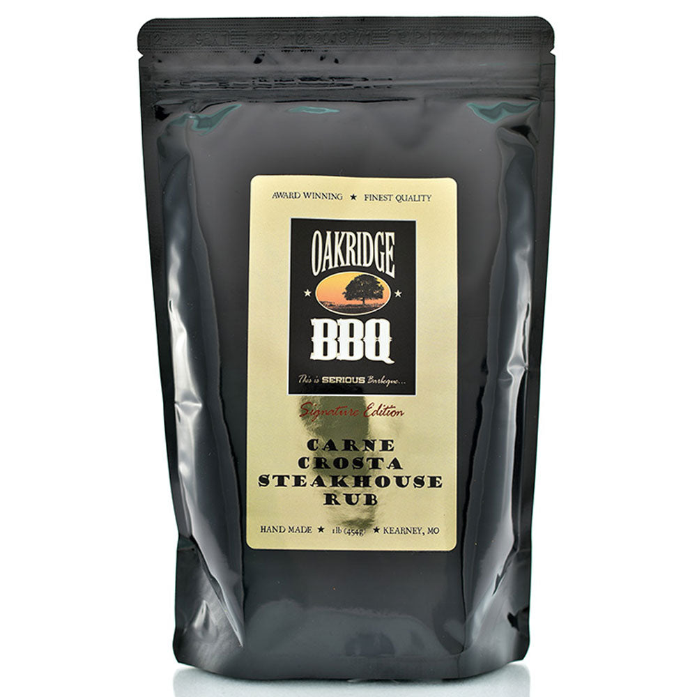BBQ Dry Rub OAKRIDGE BBQ Signature Edition Carne Crosta Steakhouse Rub 454g - American BBQ Australia