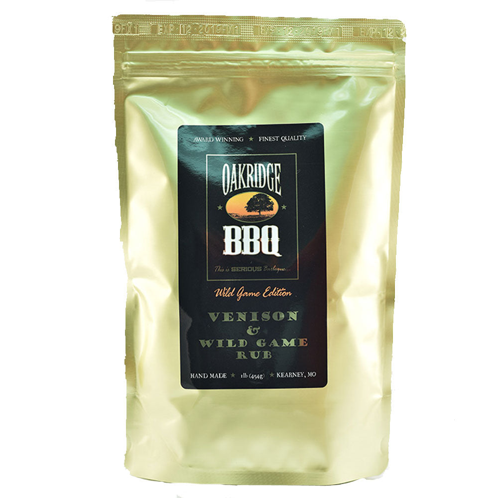 BBQ Dry Rub OAKRIDGE BBQ Wild Game Edition Venison and Wild Game 454g - American BBQ Australia