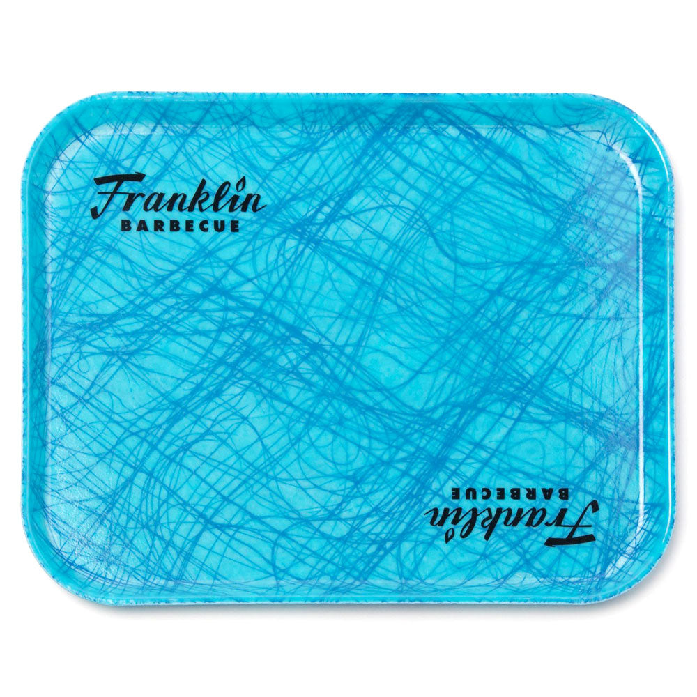 FRANKLIN BBQ Reinforced Fiberglass Turquoise Cafeteria Tray 35 x 45cm
