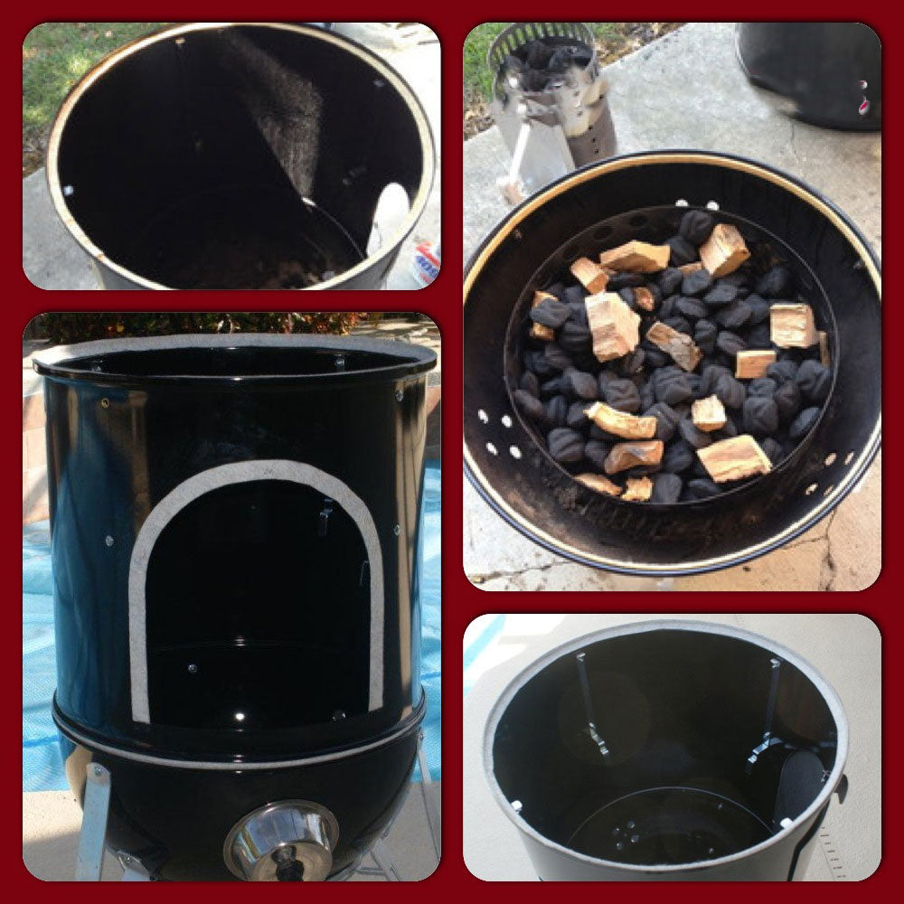 Gasket Bbq Smoker Dupont Nomex By Lavalock Suits Weber Smokey