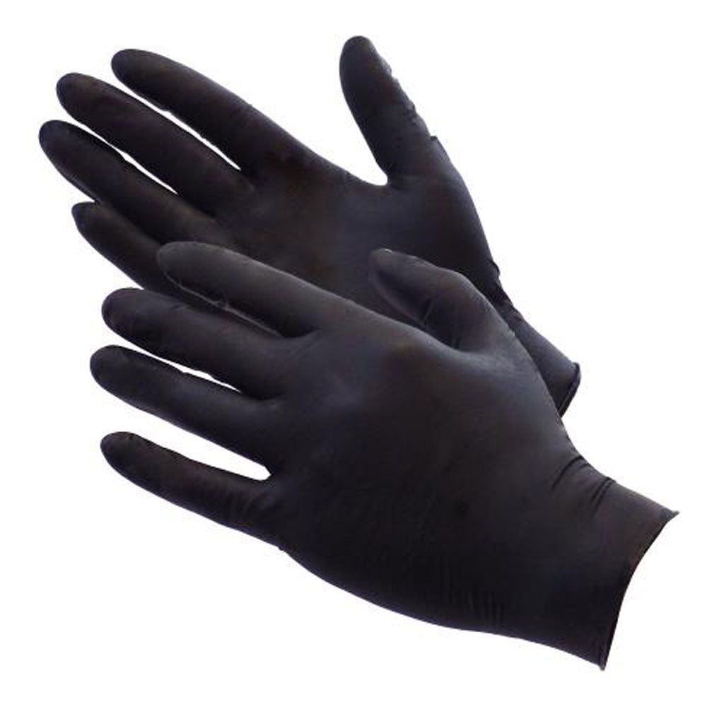 Gloves BBQ Heavy Duty Black Nitrile 100 Pack (PIT MASTERS CHOICE!) - American BBQ Australia
