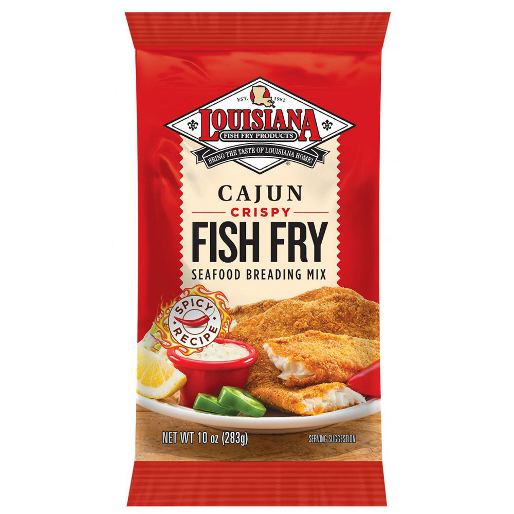 Dry Mix LOUISIANA FISH FRY Cajun Crispy Seafood Breading Mix 283g
