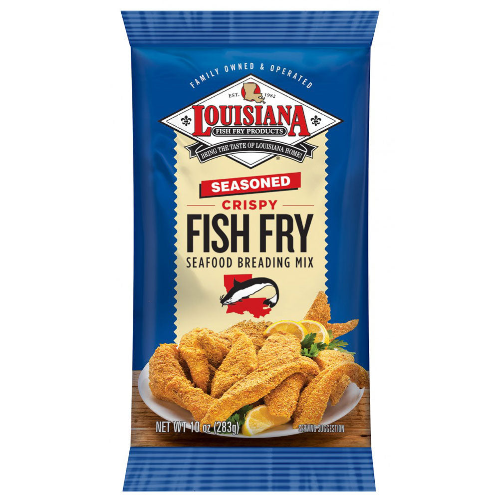 Dry Mix LOUISIANA FISH FRY Seasoned Crispy Seafood Breading Mix 283g