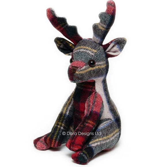 Plaid Stag Paperweight by Dora Designs