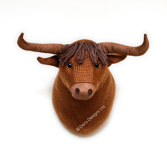 Mull Highland Cow Trophy Head by Dora Designs