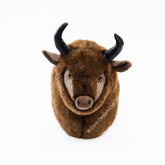 Brutus Bison Trophy Head by Dora Designs