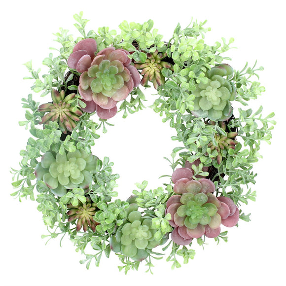 Wreath 40cm - Mixed Succulents
