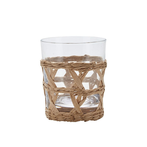 Drinking Glass with Vine Weaving by Bahne (short)