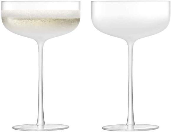 Mist Champagne/Cocktail Saucer 220 ml Part Frost Set of two by LSA