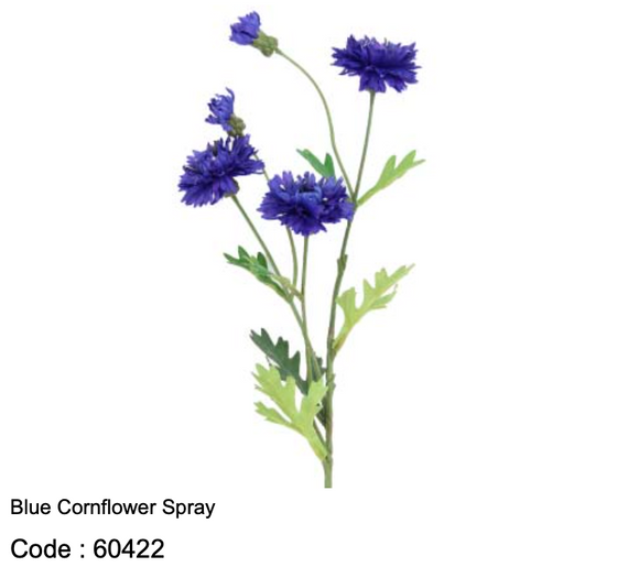 Blue Cornflower Spray