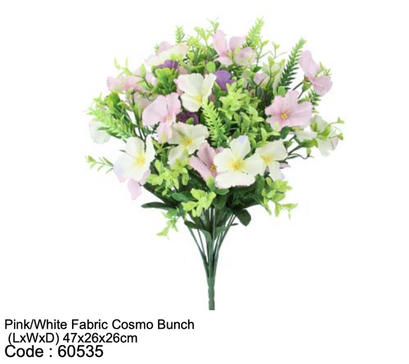 Pink & White Fabric Cosmo Bunch