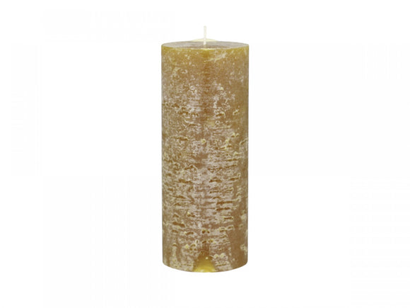 Macon rustic Pillar candle 150 hour Burn Time - Mustard