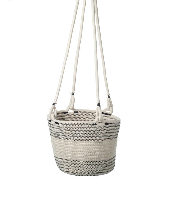 LISSIE HANGING BASKET WHITE / GREY 190MM X 250MM