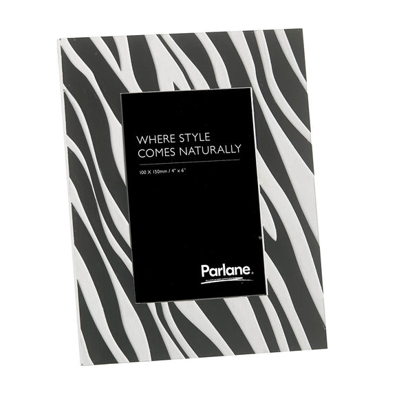 Zebra Photo Frame - Black & White - 220mm x 170mm
