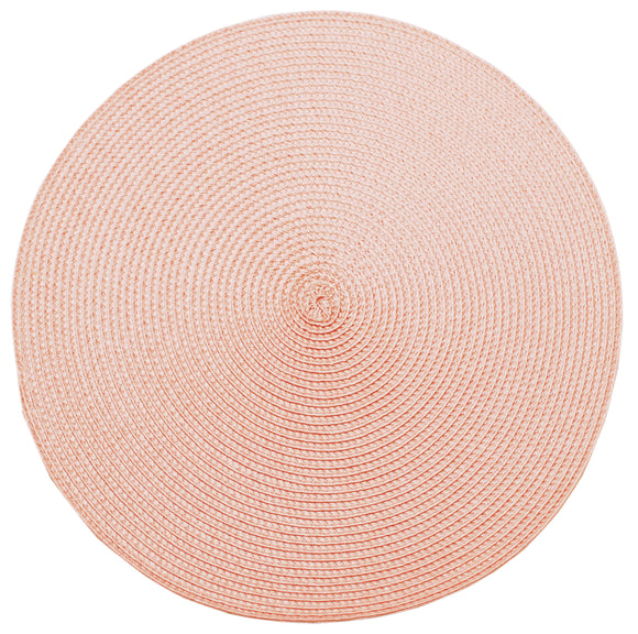 Pink Quartz Ribbed Placemat by Walton & Co