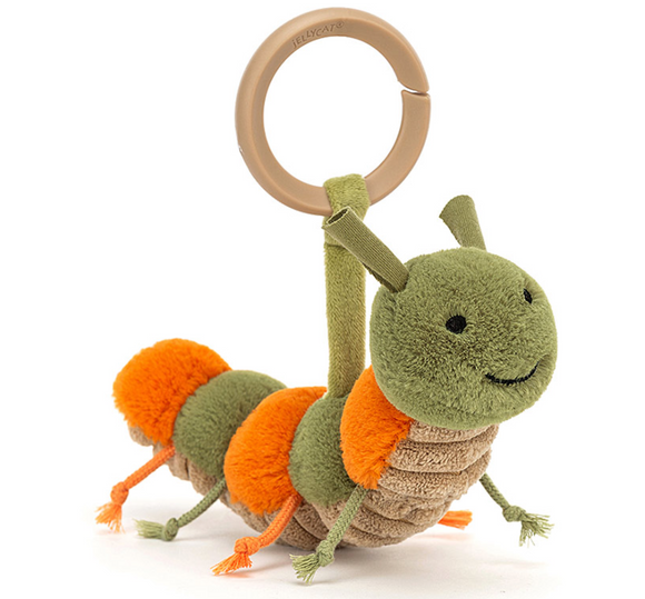 Little Christopher Caterpillar Rattle by Jellycat