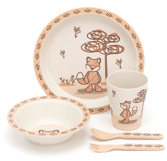 My Friend Fox Bamboo Bowl Set by Jellycat