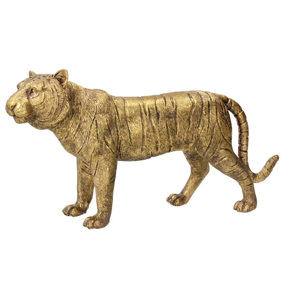 Resin Orn 21cm - Gold Tiger