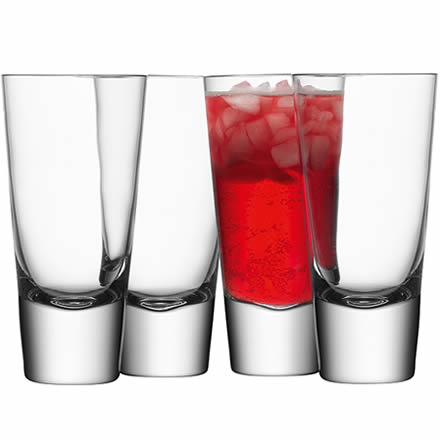 Bar Long Mixer Glasses 11.1oz / 315ml (Pack of 4) by LSA