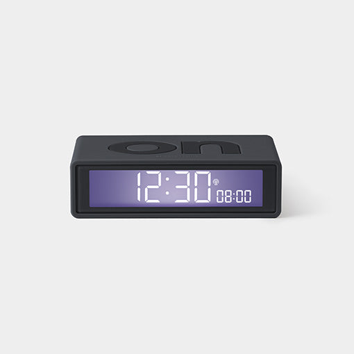 Lexon Flip The Iconic Alarm Clock Black
