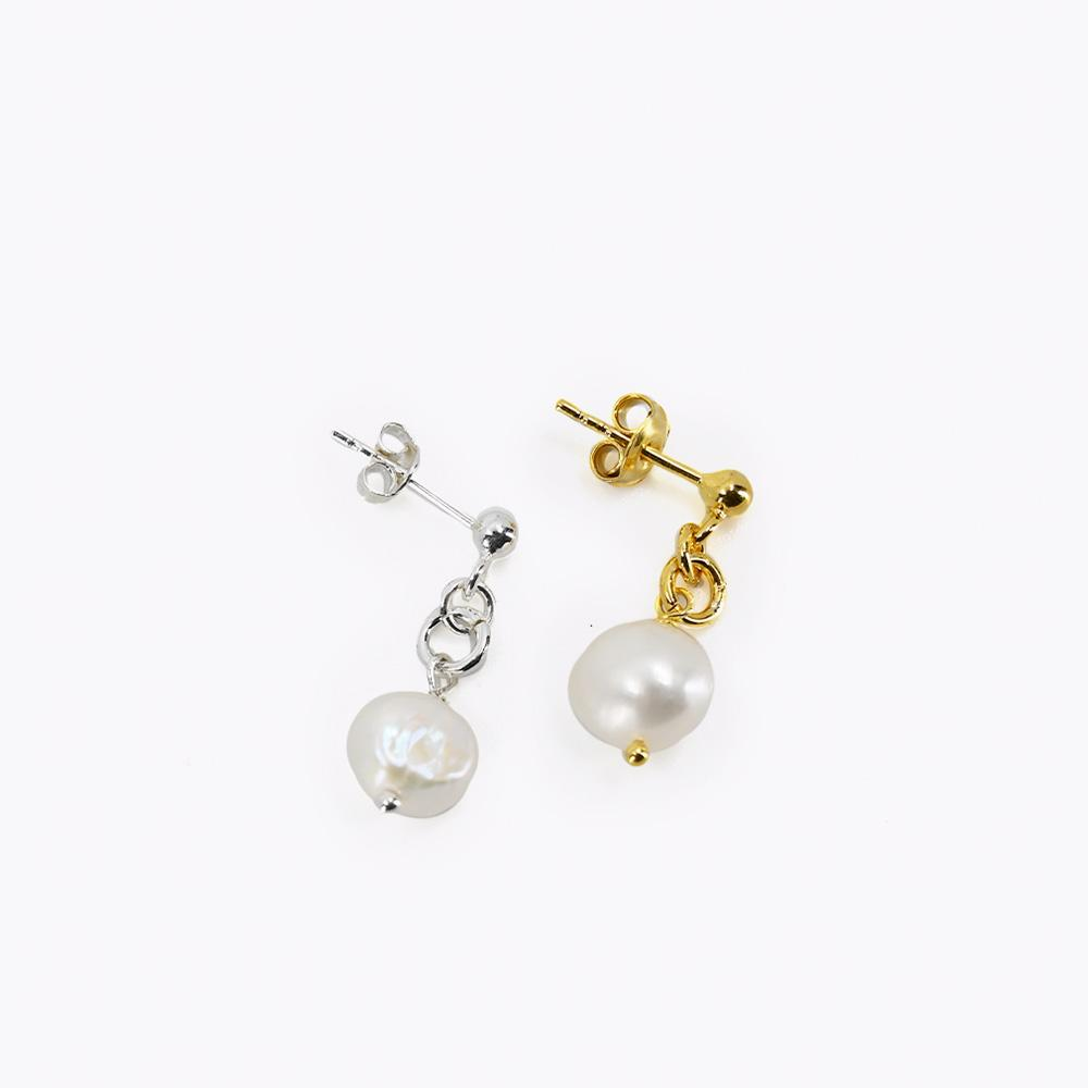 Earring NAUKS Silver With Pearl