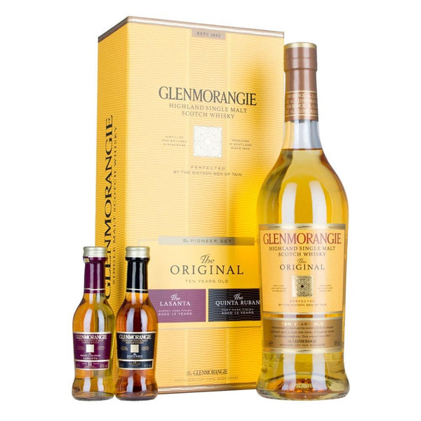Glenmorangie the Pioneer Set 0,70 l + 2x0,05 l