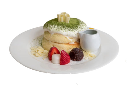 Matcha and Red Bean Pancake