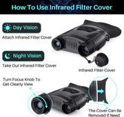 Handed Infrared Night Vision Binoculars 3.8-7.6X