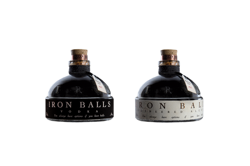 "IRON BALLS GIN & VODKA ""IRON BALLS PACK"" 2 x 0,7 Liter - 40% VOL"