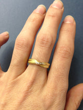 Load image into Gallery viewer, Absolu 'Fold' ring in 18ct yellow gold and diamonds